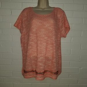 Forever 21 knit blouse w gold chain details NWT 3x
